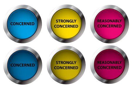 concerned: Shiny Concerned buttons OnOff, illustration