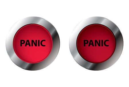 Shiny panic button On/Off, illustration Stock Illustration - 5821133
