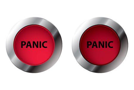 Shiny panic button On/Off, illustration Stock Illustration - 5821133