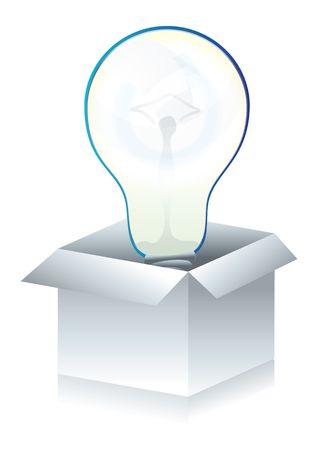 lightbox: Coceptual illustration of 3d lightbox icon