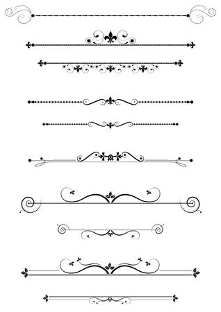 divider:  Decorative dividers and accents set, illustration