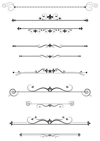 divides:  Ilustraci�n de conjunto, divisores y acentos decorativo