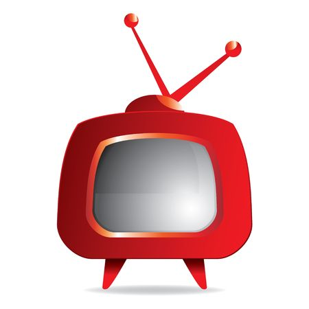 illustration of Stylized red retro TV
