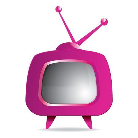 Purple retro tv, illustration Stock Illustration - 6866784