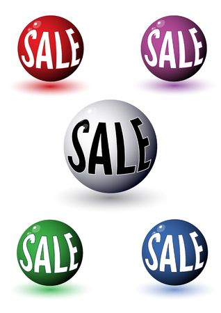 Promotional sale balls, illustration Stock Illustration - 7426313