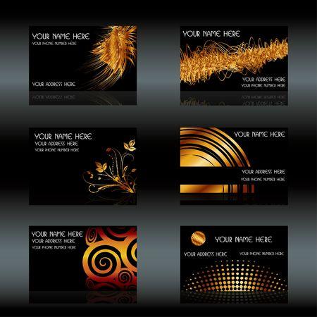 Black business cards set, illustration