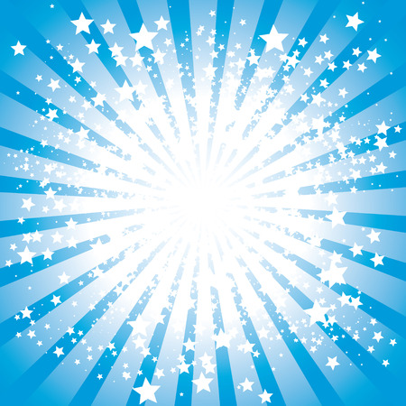 Abstract stars burst,  illustration Stock Vector - 7535925