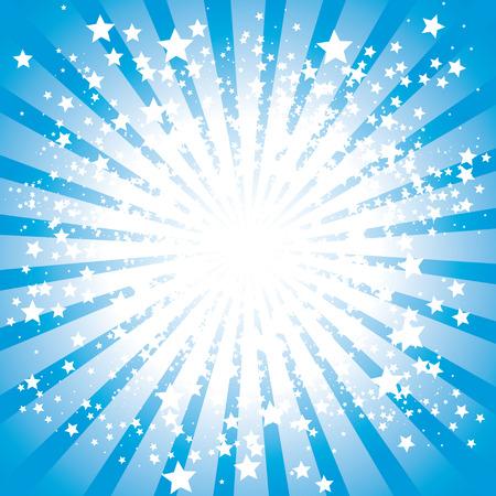 Résumé étoiles rafales, illustration  Banque d'images - 7535925