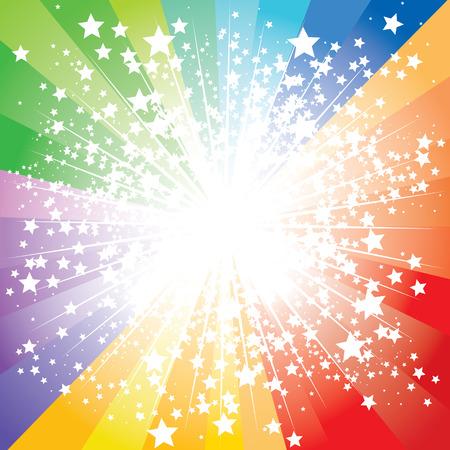 Abstract stars burst, illustration