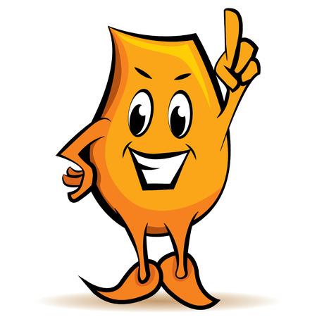 Cartoon karakter - Blinky - aandacht teken, afbeelding