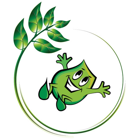 Blinky and shiny plant,   illustration Stock Vector - 7811802