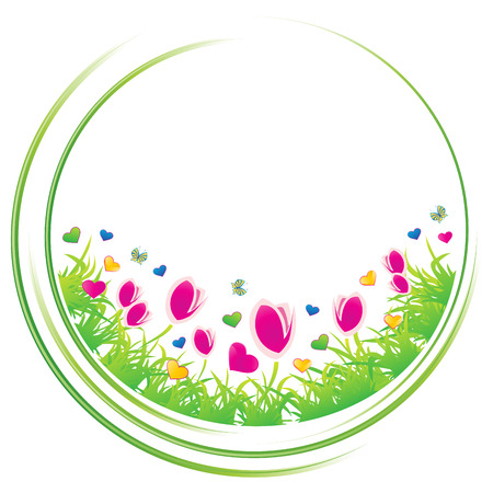 Spring circle concept icon,  illustration Stock Vector - 7811805
