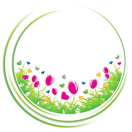 Spring circle concept icon,  illustration Stock Vector - 7811805