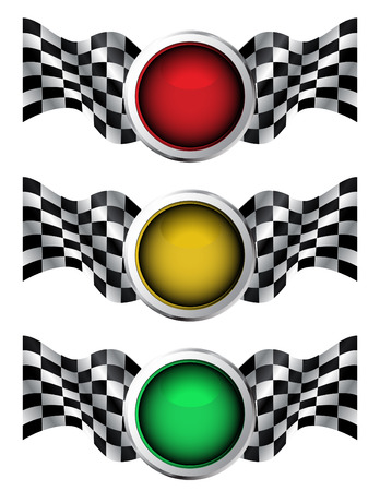 Racing traffic lights Vector