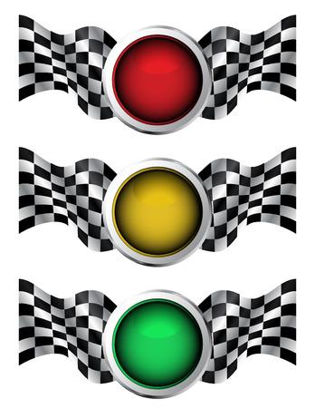 Racing traffic lights Stock Vector - 8119482