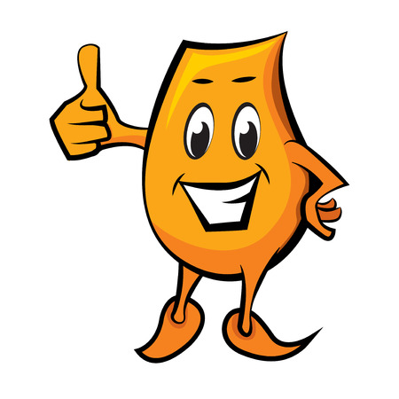 Caricature de caractère Blinky avec thumbs up Illustration