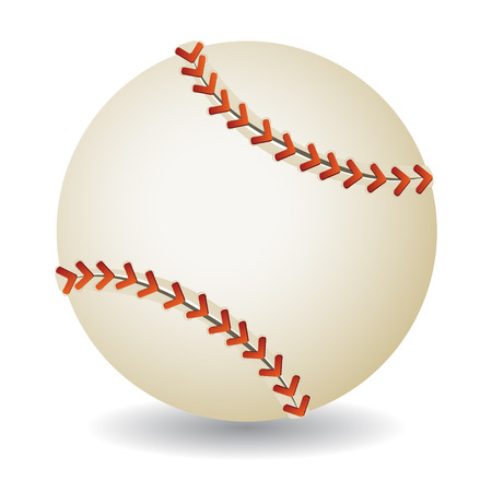 hardball: Baseball ball isolated on white background, vector illustration Illustration