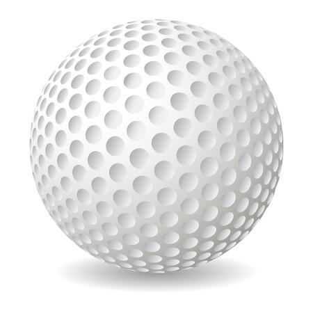golf clubs: Golf ball isolated on white background, vector illustration Illustration