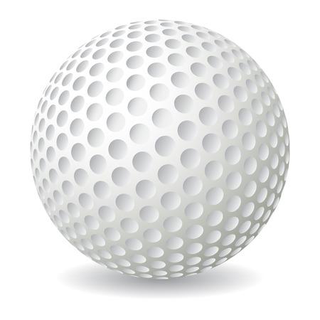 Golf ball isolated on white background, vector illustration Illustration