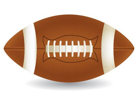 Realistic american football ball isolated over white, vector illustration Vectores