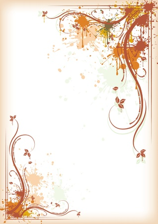 Autumn background grunge floral composition Stock Vector - 10549678
