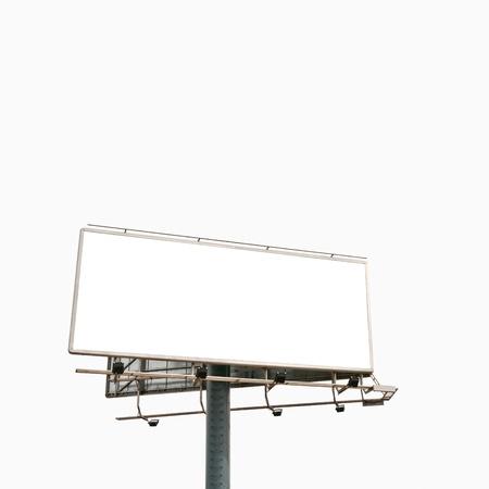 Empty billboard isolated over white background Zdjęcie Seryjne