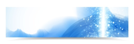 Abstract header with blue watercolor effect and lights Illustration