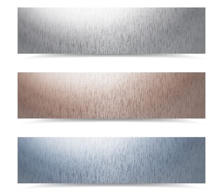 metallic banners set, eps10 vector illustration Stock Vector - 13029551