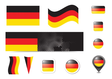 Germany flag and buttons set photo