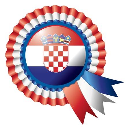 croatia flag: Detailed rosette flag of Croatia