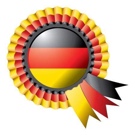 germany flag: Detailed rosette flag of Germany Stock Photo