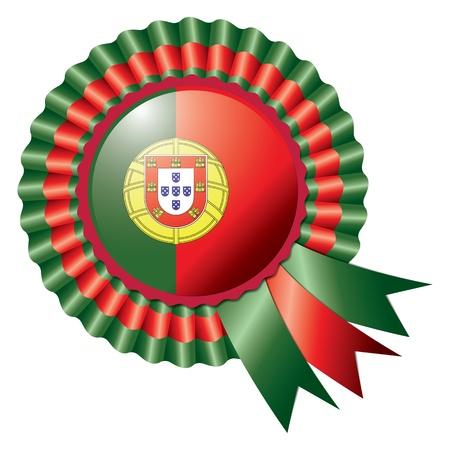 drapeau portugal: Détail rosette flag Portugal, eps10 illustration vectorielle