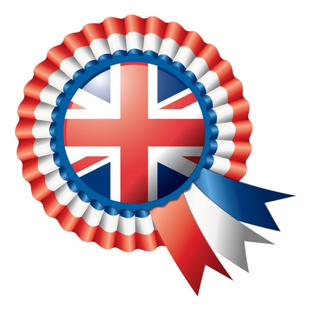 Detailed rosette flag of UK Stock Photo - 14112843