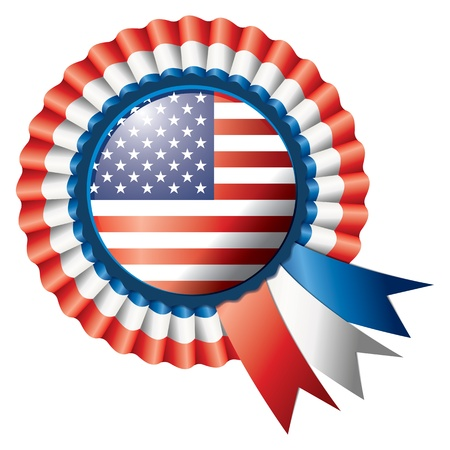 Detailed rosette flag of USA, eps10 vector illustration Vector