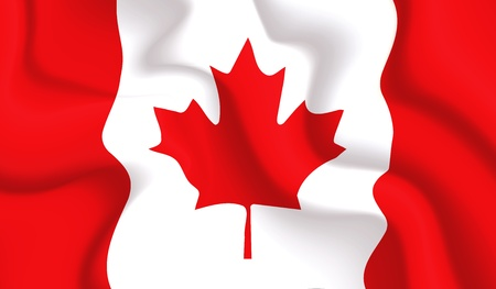 Satin Canada waving flag, eps10 vector illustration Vector