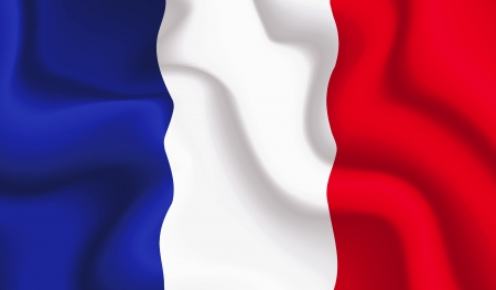 Satin France waving flag, eps10 vector illustration Vector