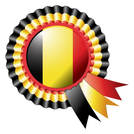 Belgium detailed silk rosette flag Vector