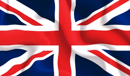 Raso ondeando la bandera del Reino Unido