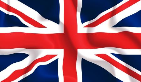 Satin agitant un drapeau du Royaume-Uni