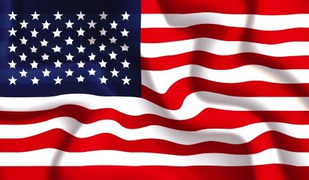 waving flag: Satin USA waving flag