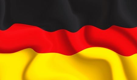 bandera de alemania: Satin Alemania ondeando la bandera Vectores