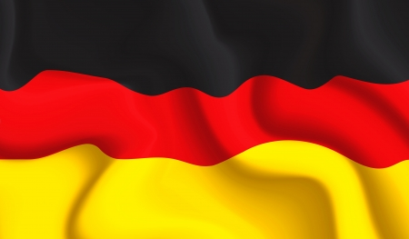 Satin Germany waving flag Vector