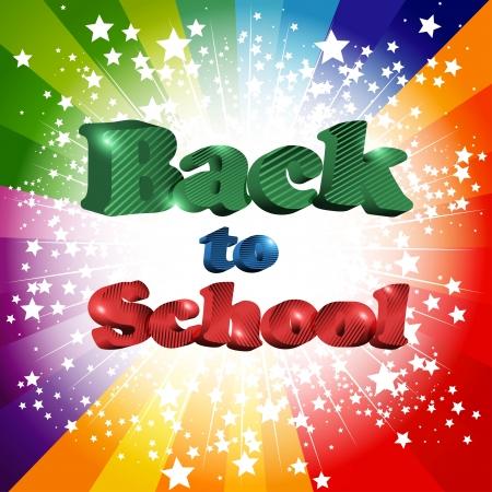 Back to school inscription illustration Stock Vector - 14976541