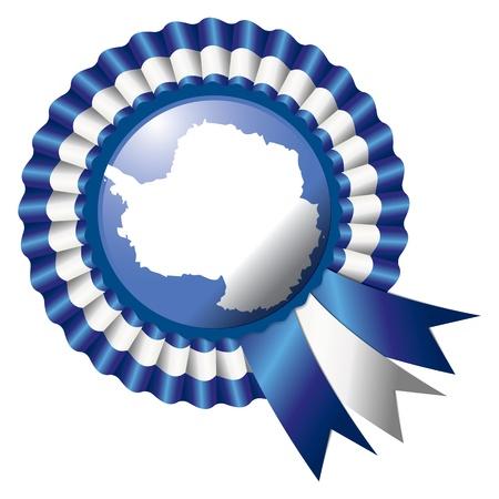 antartide: Antartide dettagliata seta rosetta bandiera illustrazione