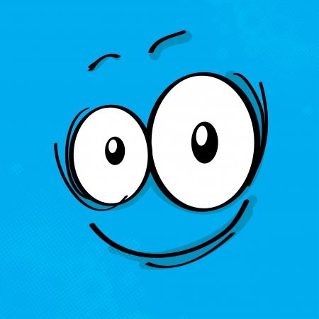 Cartoon expression on colored background, eps10 vector illustration Illustration