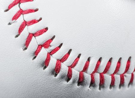 red stitches: Baseball Ball macro detail on Stitches, Shallow Focus