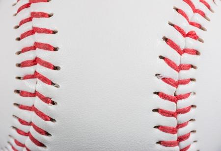 Baseball Ball macro on Stitches suitable as framed  Standard-Bild