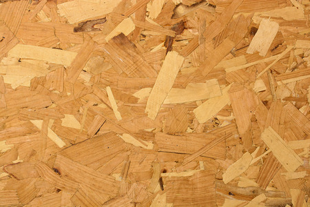 tongue and groove: Closeup image of OSB Board Stock Photo