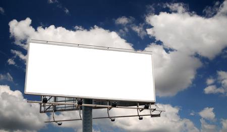 Blank Billboard Screen in front of beautiful cloudy sky