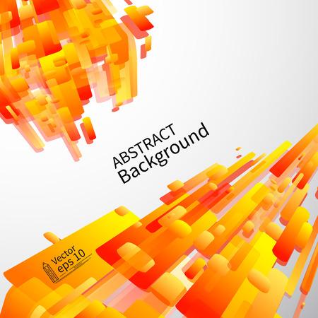 fond abstrait orange: Dynamique R�sum� de fond orange, vecteur